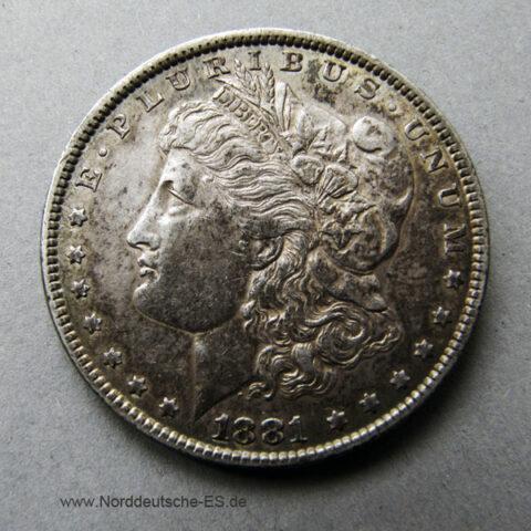 USA Morgan Silber Dollar 1881 Silver Dollar