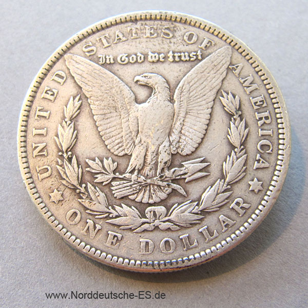 USA One Dollar 1902 Morgan Dollar Silbermünze