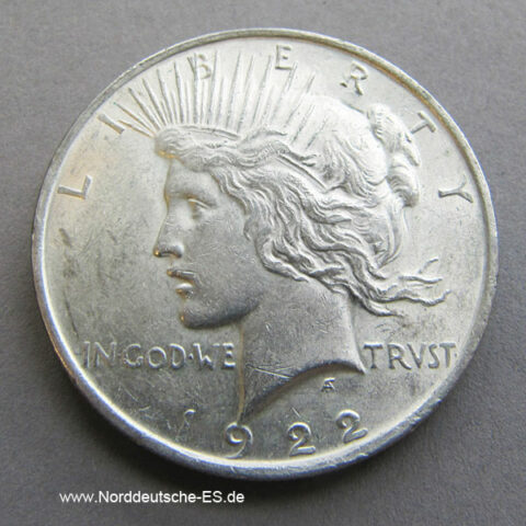 USA Peace Dollar Silbermünze 1921-1928 One Dollar 1934-1935