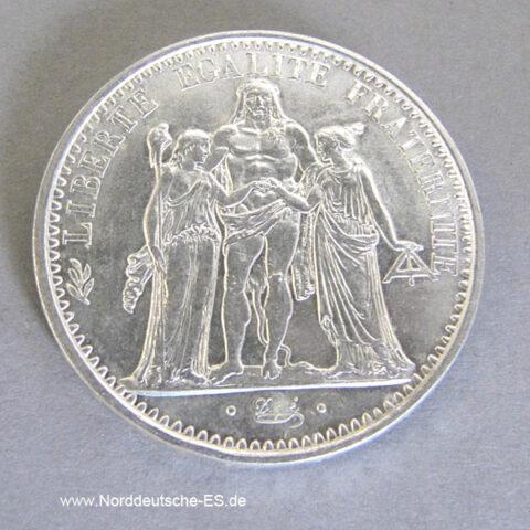 Frankreich 10 Francs Silbermünze 1965-1973 Herkules Gruppe