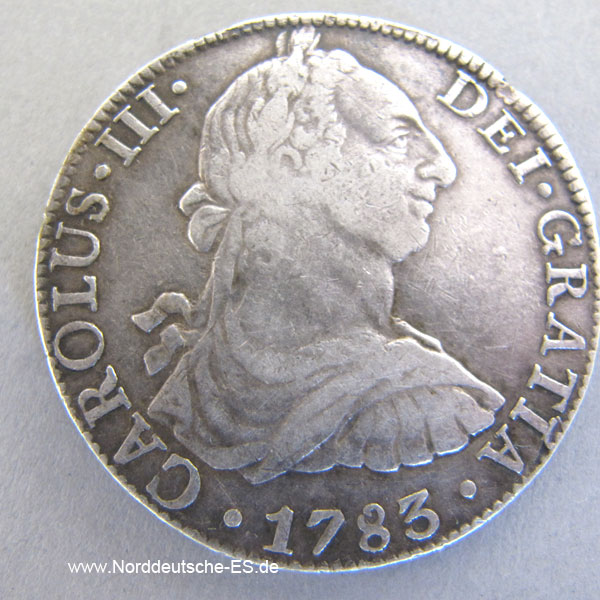 Mexiko 8 Reales 1783 Carolus Iii Silbermünze Münzrarität