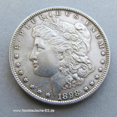 USA Morgan One Silber Dollar von 1898