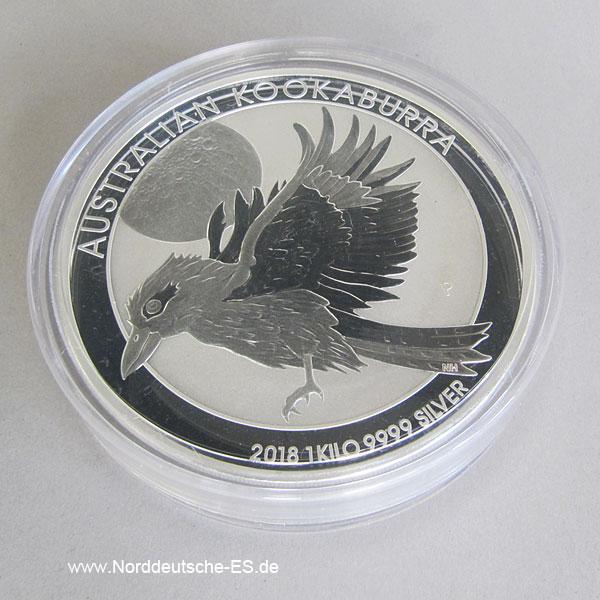 Australien 1 Kilo Silber Kookaburra 2018