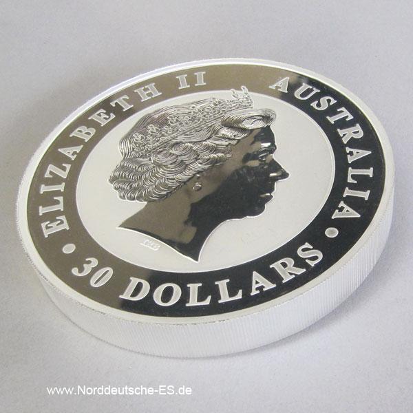Australien 1 Kilo Silber Kookaburra Elisabeth