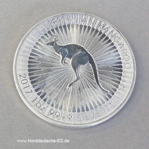 Australien Kangaroo 1 oz Silbermünze 2017