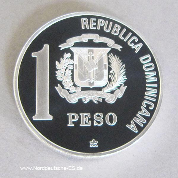 Dominikanische Republik 1 Peso 1 Oz Silber