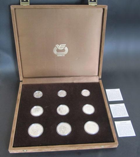 Griechenland 1982 Leichtathletik EM 3 x 100, 250, 500 Drachmen Silbermünzen Set