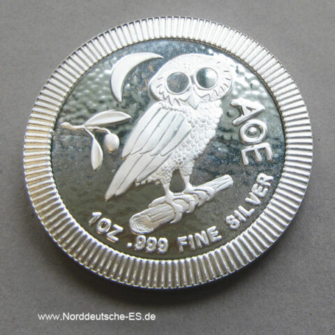 Griechenland Eule von Athen Silbermünze 1oz 2017