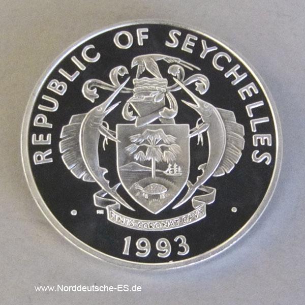 Seychellen25 Rupees Silber 1993Dajaldrossel