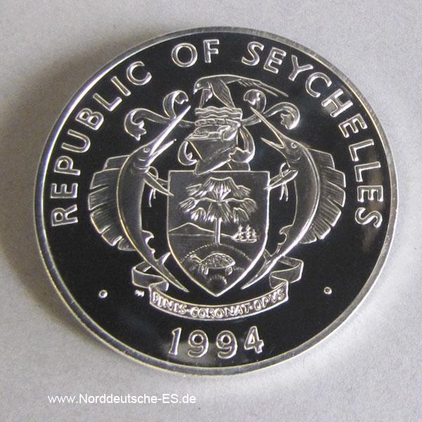 Seychellen25 Rupees Silber 1994Monarchfalter