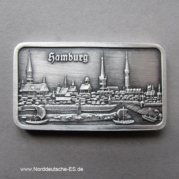 Silberbarren 1 oz Feinsilber 999 Heraeus Hamburg Stadt 1750