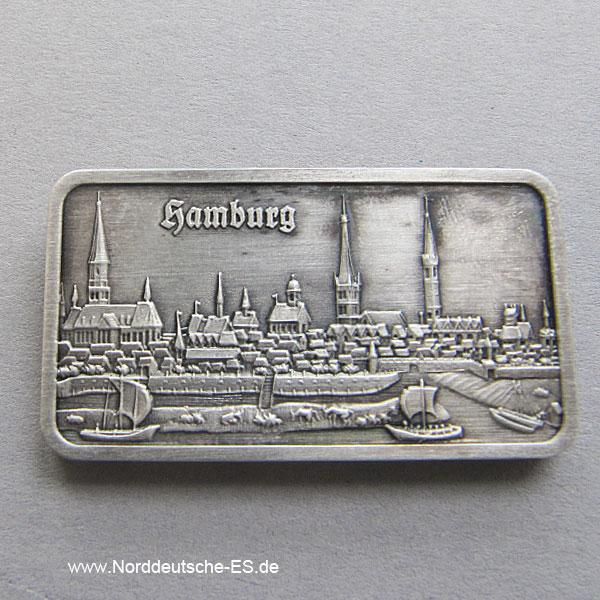 Silberbarren 1 oz Feinsilber 999 Heraeus Hamburg Stadt
