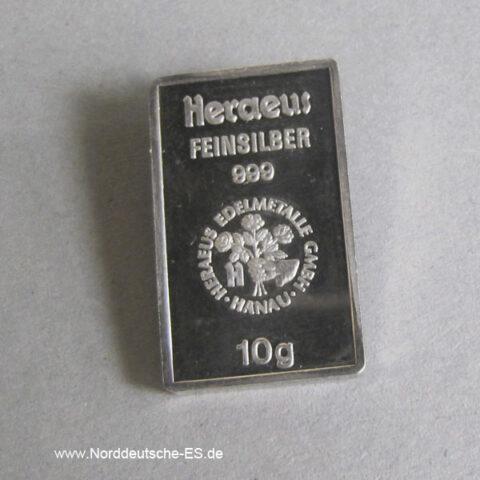 Silberbarren-10g-Heraeus-9999-Feinsilber