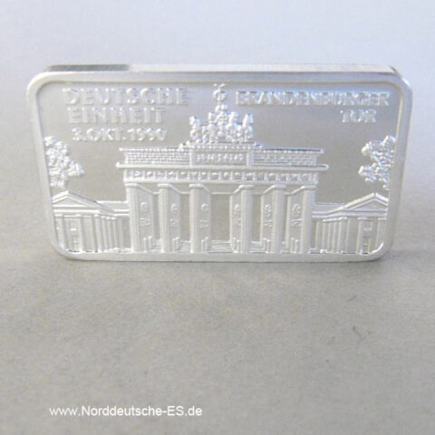 Silberbarren Heraeus 1 Unze Berlin Brandenburger Tor