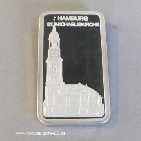Silberbarren St. Michaelis Hamburg Degussa