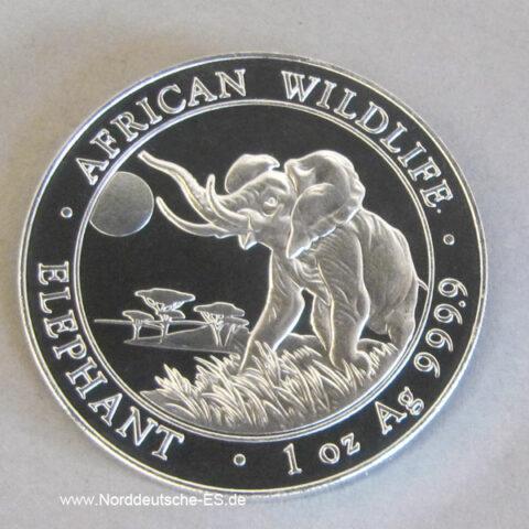 Somalia 1 Unze Silbermünze Elefant 2016