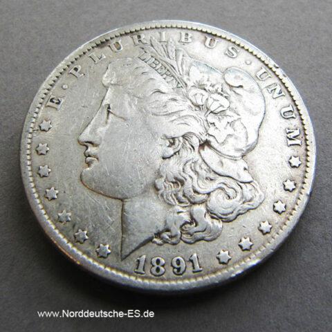 USA Morgan Dollar 1891 Silber