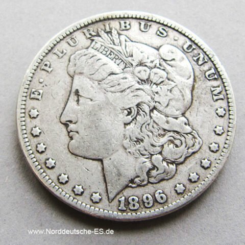USA Morgan Dollar 1896 Silbermünze One Dollar