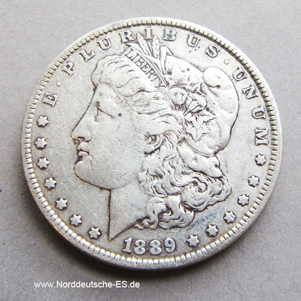 USA Morgan Dollar Silber 1889