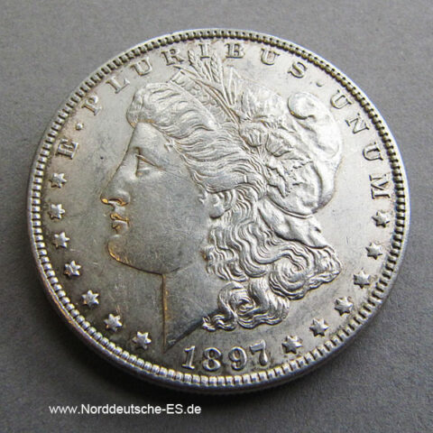 USA Morgan Silber Dollar 1897 Liberty