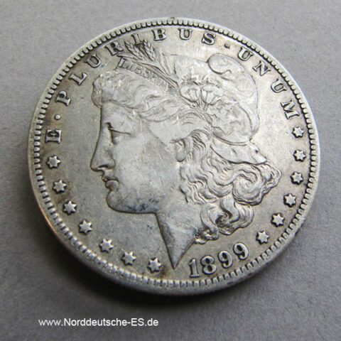 USA Morgan Silber Dollar 1899 Liberty