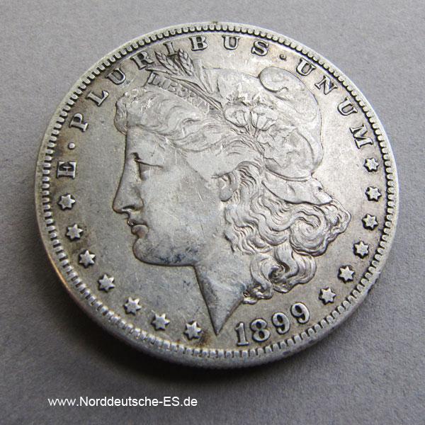 USA Morgan Silber Dollar 1899 Liberty