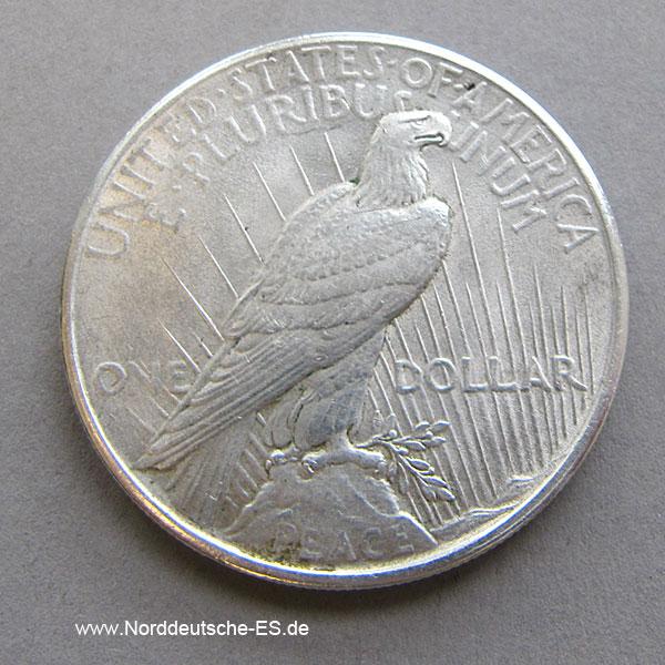 USA Peace One Dollar Silber1925