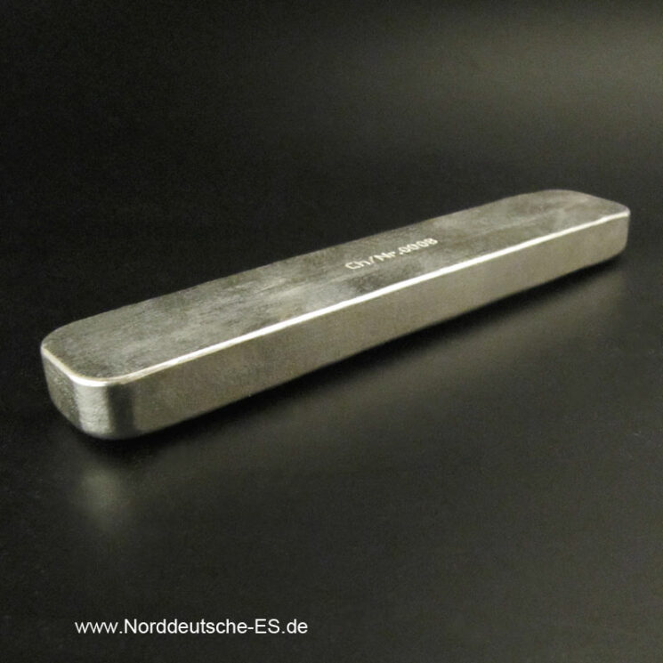 250g Silberbarren 9999 Norddeutsche ES Langbarren