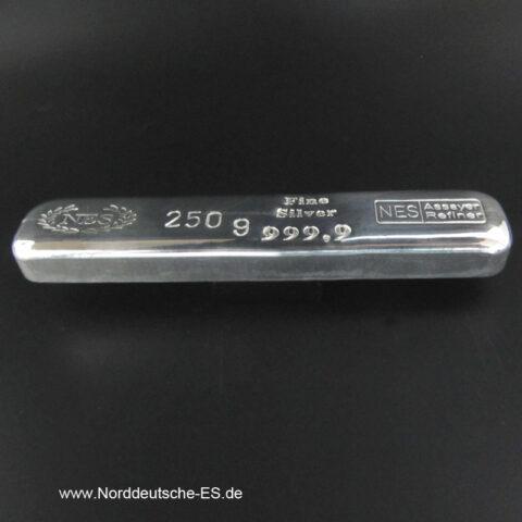 250g-Silberbarren-9999-Norddeutsche-ES-backside