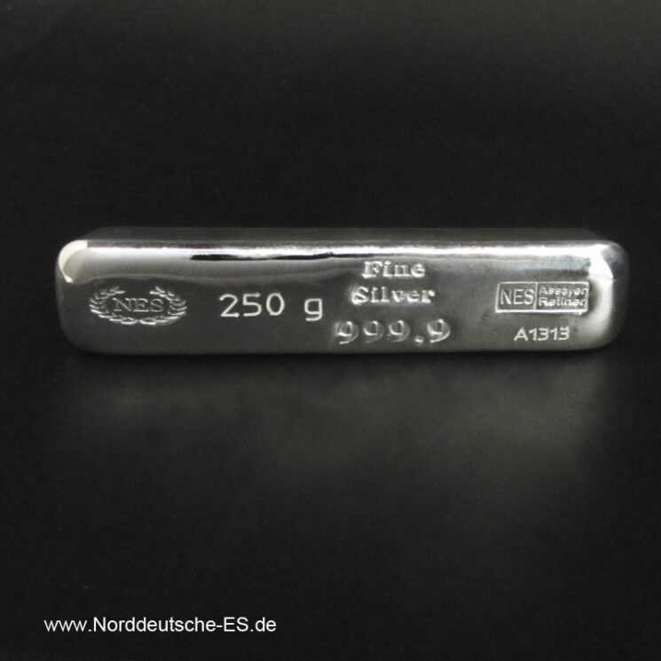 250g Silberbarren 9999 Norddeutsche-ES