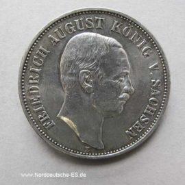 5 Mark Silber Friedrich August Sachsen 1907-1914