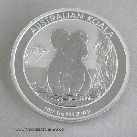 Australien Koala 1 oz Silber 2017