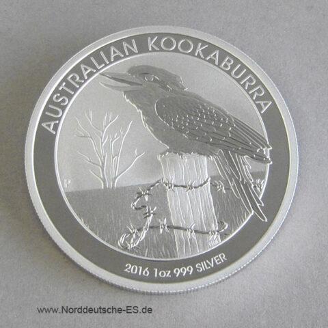 Kookaburra 1 oz Feinsilber 2016