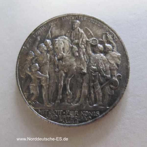 Deutsches Reich 2 Mark Der König rief