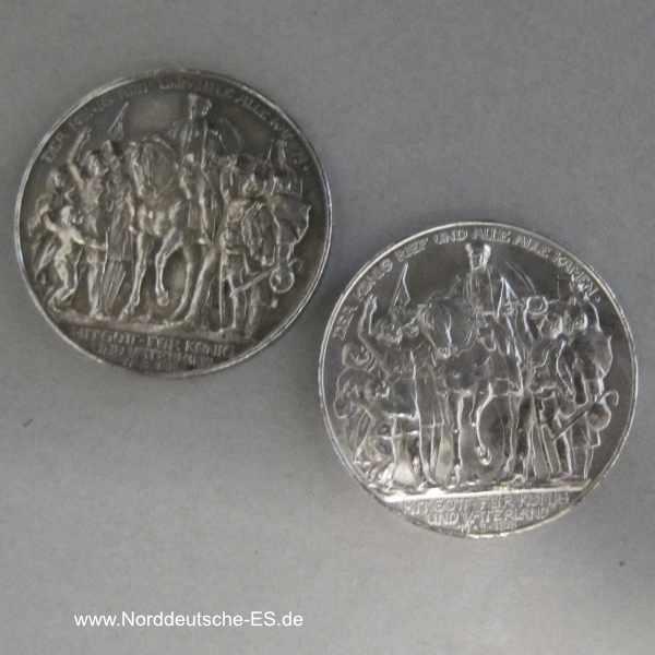 Deutsches Reich 3 Mark Silber 1913 Der König rief