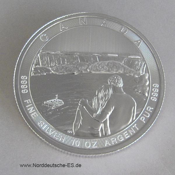 Kanada50 $ Dollarthe Great Niagara Falls 10 oz Silber 2017