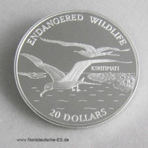 Kiribati Möwe 1992 Endangered Wildlife 20 Dollars Kirimati