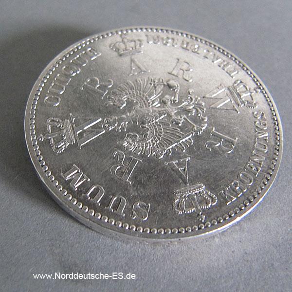 Krönungstaler Silber Preussen Wilhelm I und Augusta 1861