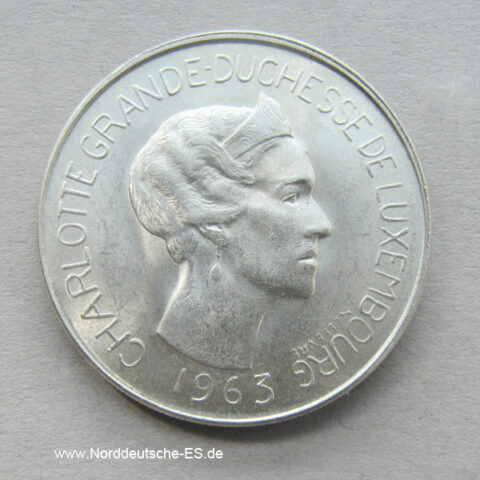 Luxemburg 100 Francs 1963 Charlotte 1919-1964 silber