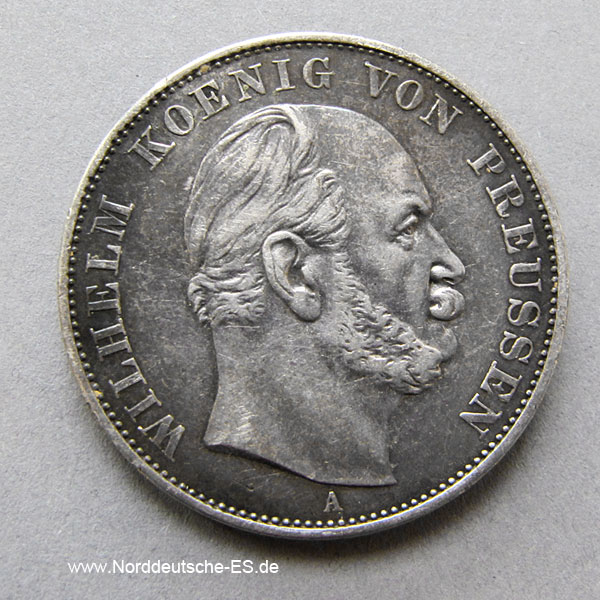 Siegestaler 1871 Wilhelm I Preußen Silber