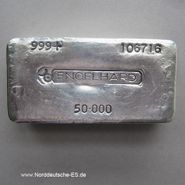 Silberbarren 50oz Engelhard 1_555kg Feinsilber