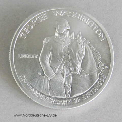 USA Half Dollar Silber 1982 George Washington 250 Jahrestag