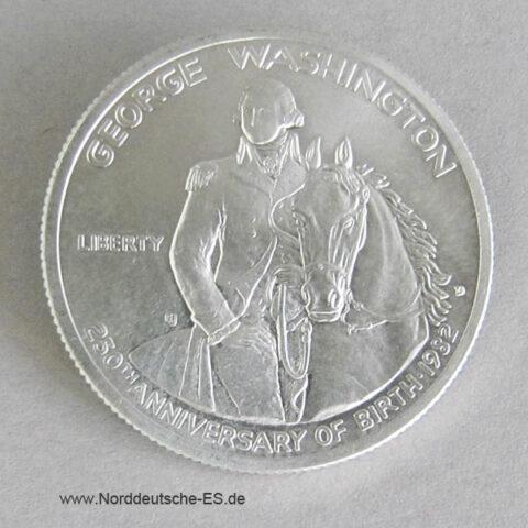 USA Half Dollar Silber 1982 George Washington 250 Jahrestag