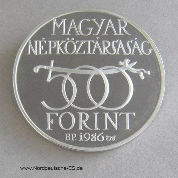 Ungarn 500 Forint 1986Befreiung Buda Silber