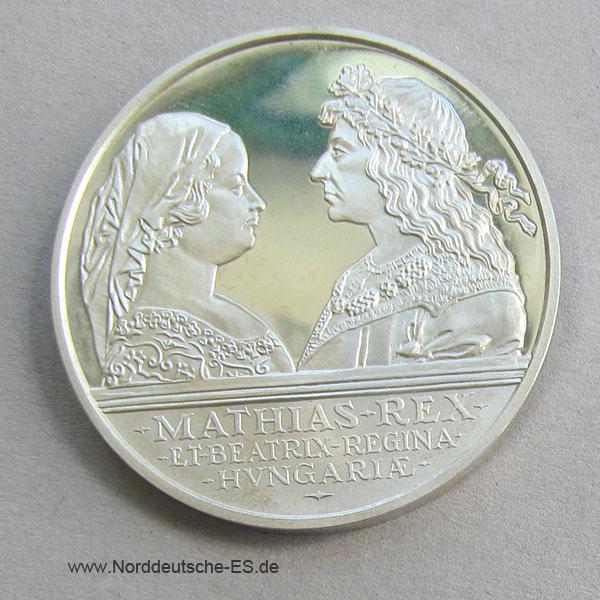 Ungarn 500 Forint 1990 Matthias Beatrix Silber