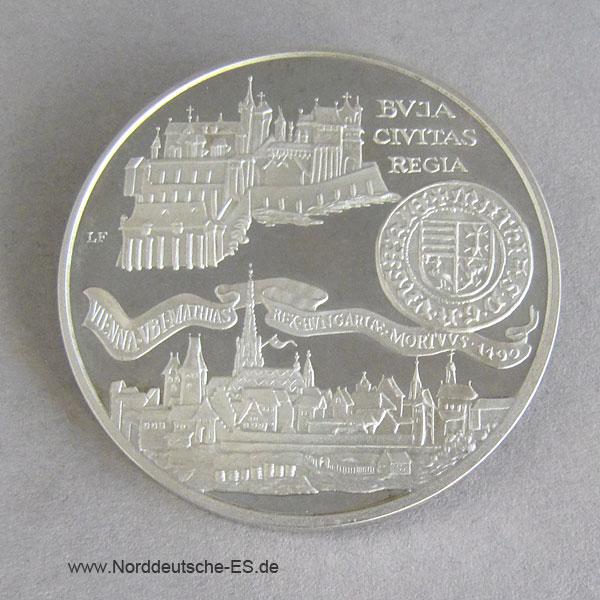 Ungarn 500 Forint 1990 Silber Mathias Corvinus