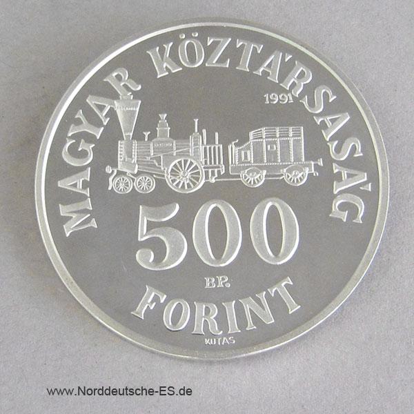 Ungarn 500 Forint 1991Istvan Szechenyi Silbermünze