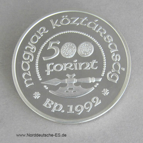 Ungarn 500 Forint 1992 Saint Ladislas Silber