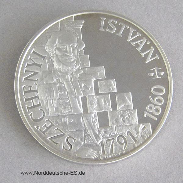 Ungarn 500 Forint 1991Istvan Szechenyi Silber