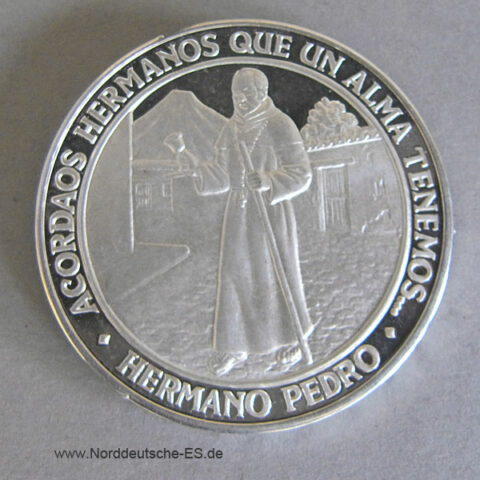 Guatemala Beatification Hermano Pedro Feinsilber 22 Junio 1980 Silver
